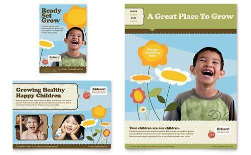 Child Development School - Flyer & Ad Template Design Sample ...