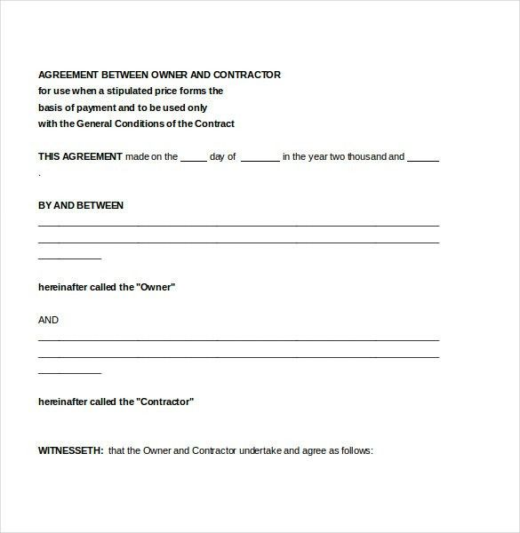 Contractor Agreement Template – 10+ Free Word, PDF Document ...