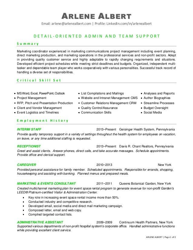 patient-care-coordinator-resume-summary-critical-skills-set ...