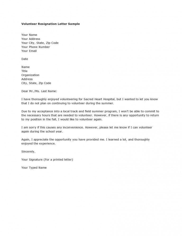 Resignation Letter Format Resignation Letter Resign Letter Sample ...