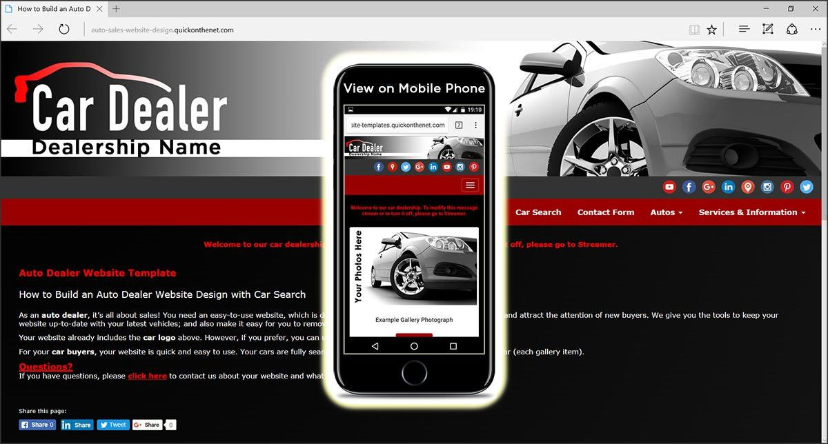 Auto Dealer Website Template. best 30 car auto website templates ...