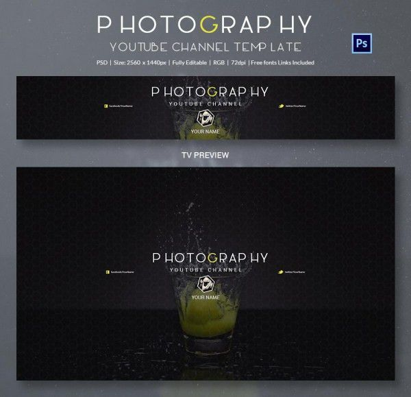YouTube Banner Template - 50+ Free PSD Format Download! | Free ...
