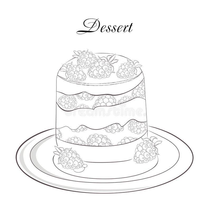 Dessert Menu Template Stock Image - Image: 25941031