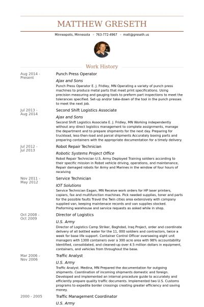 Digital Press Operator Sample Resume Print Resume 19 Sample