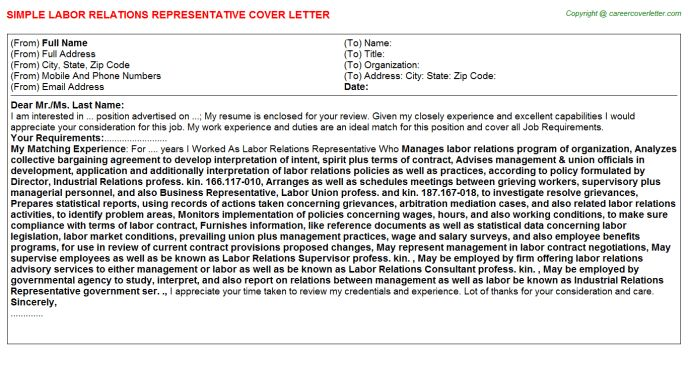 Provider Relations Representative Cover Letters