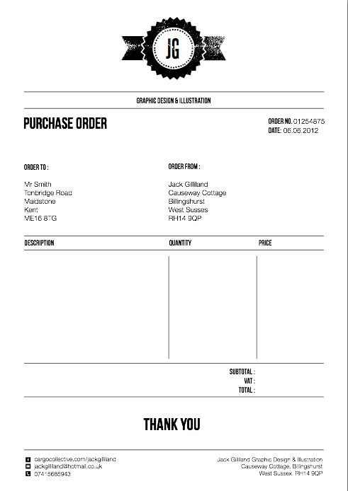 Final Designs for Invoice, letterhead and purchase order | Career ...