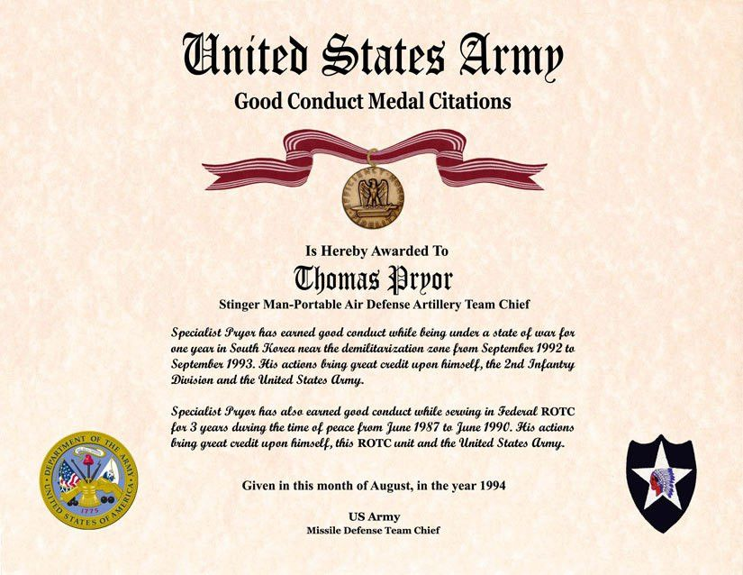 Military certificate templates certificate of appreciation individual award certificate military training unit awards yadclub Image collections