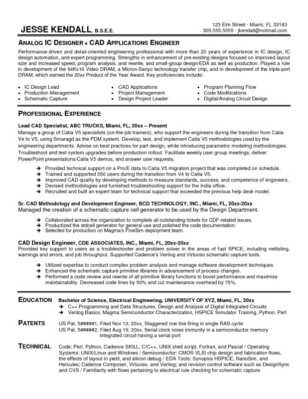 Memory Design Engineer Sample Resume 5 Best Ideas Of Memory Design ...