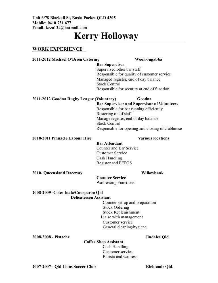 K.Holloway Resume