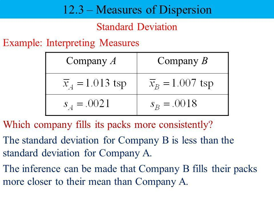 12.3 – Measures of Dispersion - ppt video online download