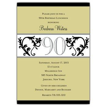 90 years birthday invitation templates printable free ...