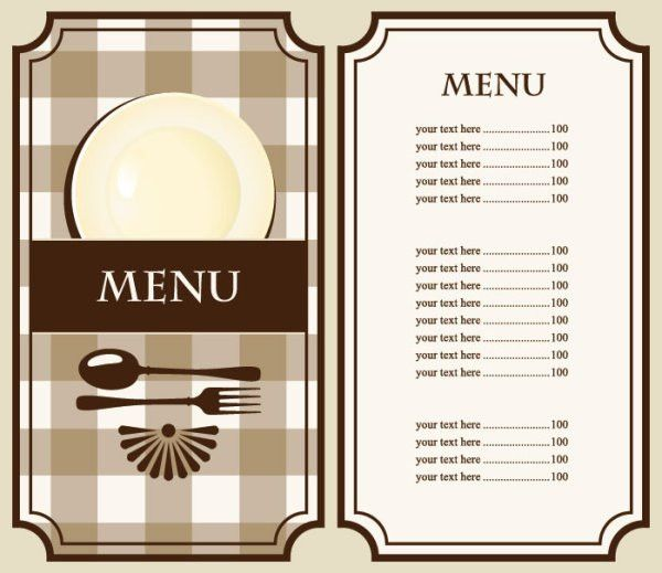Set of cafe and restaurant menu cover template vector 02 - Vector ...