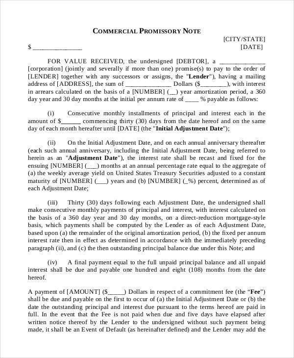 Note payable form [cvlook03.billybullock.us]