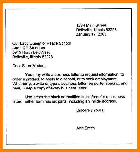 11+ block letter example | addressing letter