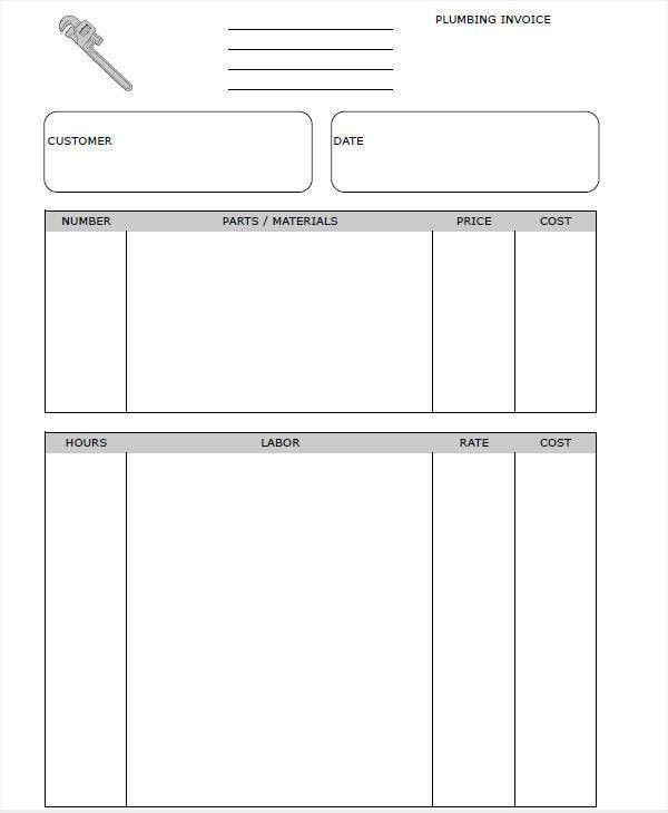 7+ Plumbing Invoice - Free Sample, Example, Format Download