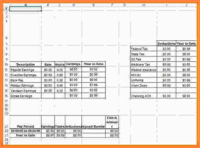 7+ payroll check template excel | Samples of Paystubs