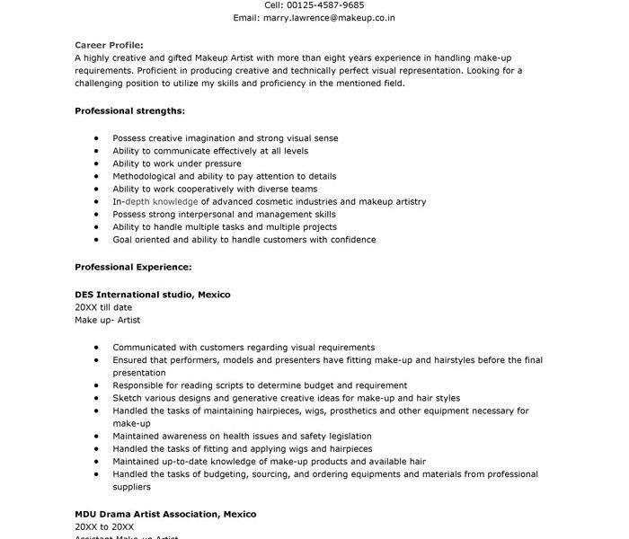 Download Artist Resume Sample | haadyaooverbayresort.com