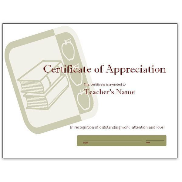 Free Teacher Appreciation Certificates: Download Word and ...