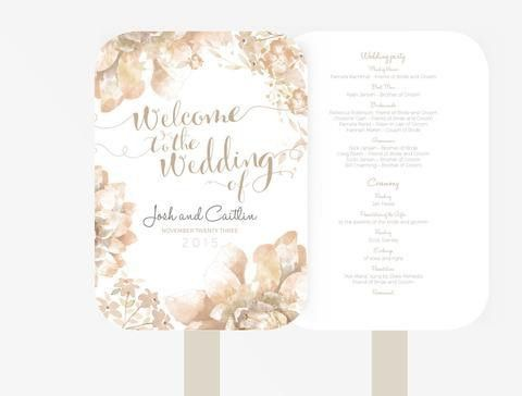 Wedding Welcome Signage Poster DIY | Editable PowerPoint Template ...