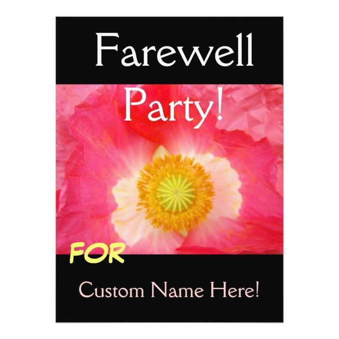 1260 best Farewell Party Invitations images on Pinterest ...