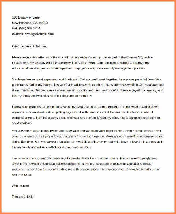 11+ officer resignation letter | Resign Letter Job