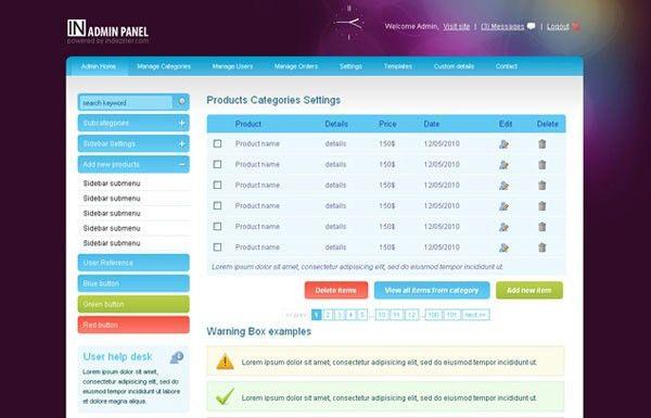 15+ Free HTML Admin Templates – Design Blog
