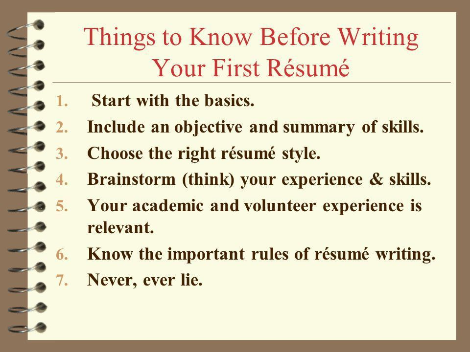 How to Write your First Résumé ? - ppt video online download