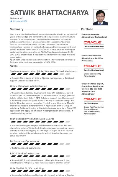 Trendy Idea Dba Resume 16 Database Administrator Resume Samples ...