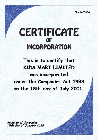 Certificate of Incorporation template, How to print a Certificate ...