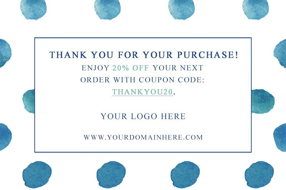 Thank You Card - Thank You Card Template - Business Promo Card ...