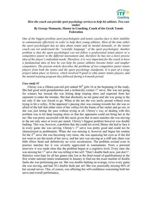 Case study example psychology
