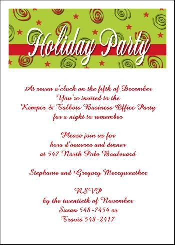 41 best Business Holiday Christmas Party Invitations images on ...