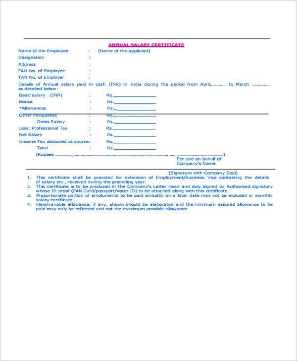 15+ Salary Certificate Formats | Free & Premium Templates