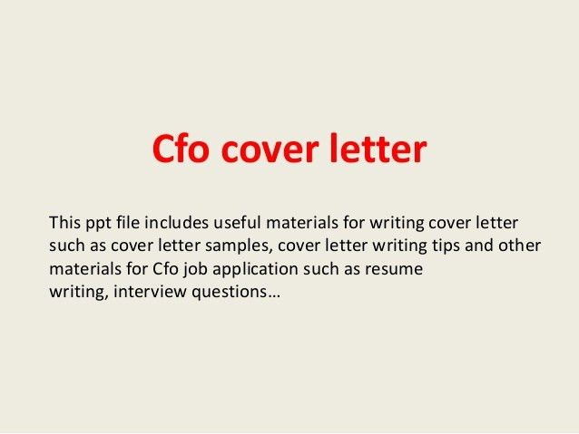 great cfo cover letters cover letter cfo resume format pdf how to ...