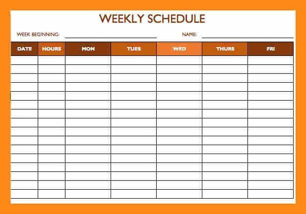 6+ employee schedule template | actor resumed