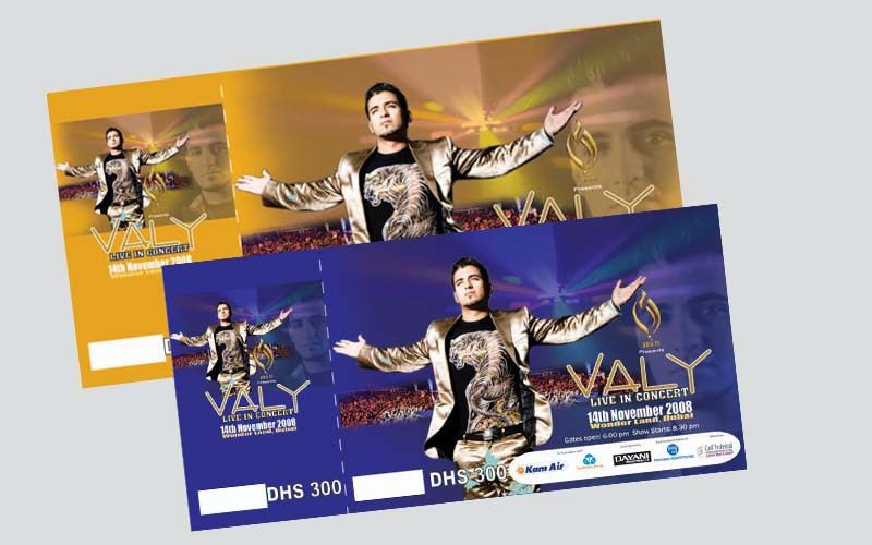 Valy Live in Concert-Dubai - Panama Advertising