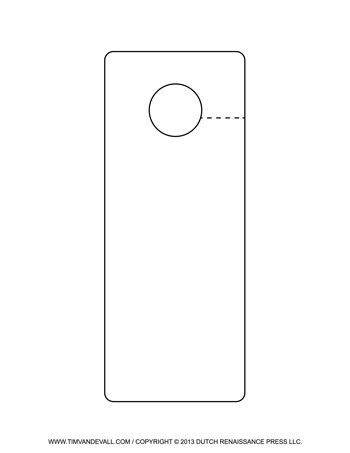 Free Printable Door Hanger Templates | Blank Downloadable PDFs