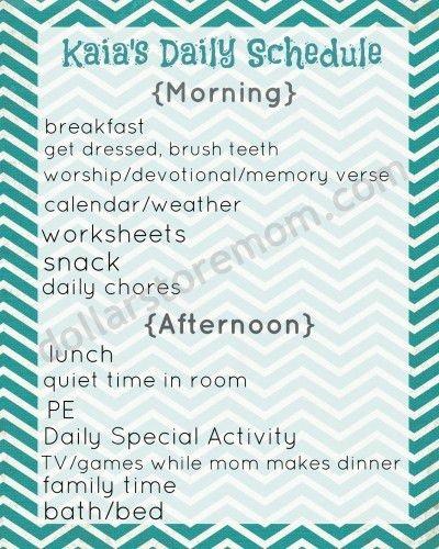 Free Printable: Basic Daily Schedule | Kids | Pinterest | Free ...