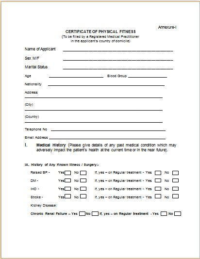 Sample Medical Certificate Template | Formal Word Templates