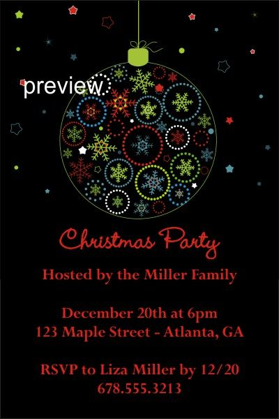 christmas party invitations Archives -