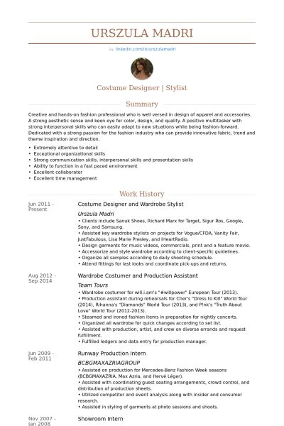 Stylist Resume samples - VisualCV resume samples database