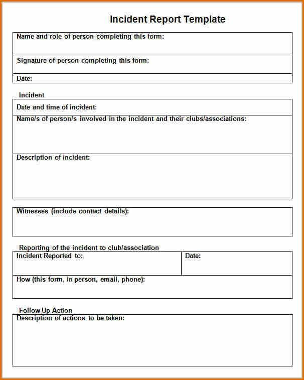 Incident Report Format. Critical Incident Report Template Incident ...