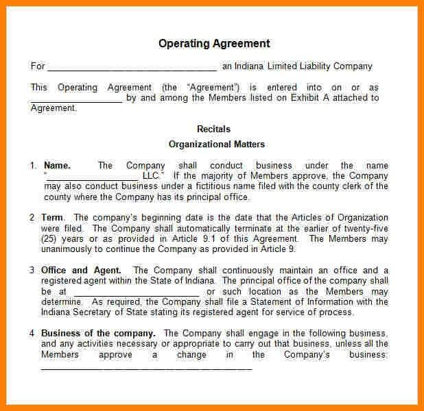 Sample Operating Agreements. Free Print And Sign Single Member Llc ...