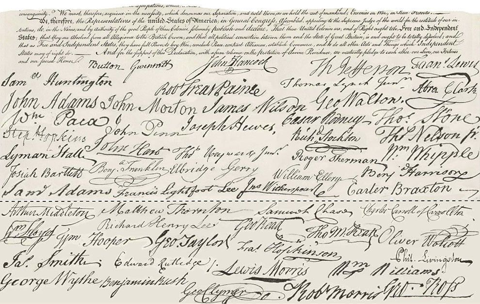 John Hancock's Declaration of Independence signature: Was it too big?