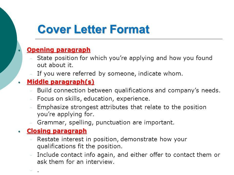 How to Write an Effective Cover Letter Sara Yousef CPIT ppt download