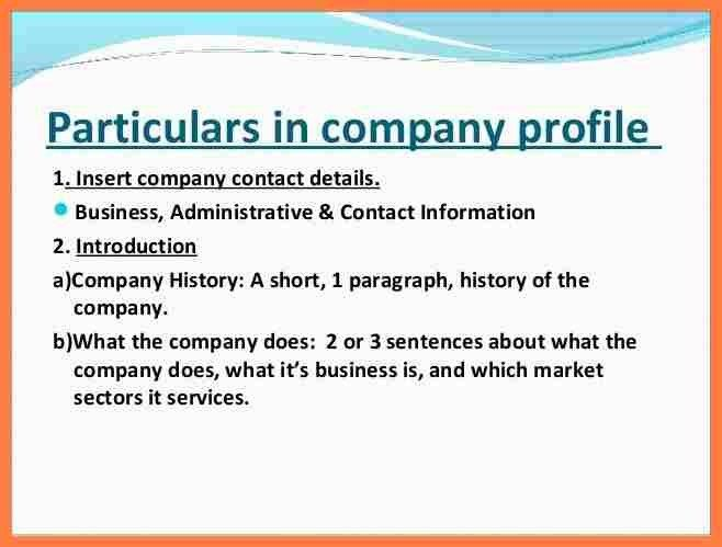 4+ company profile sample download | Company Letterhead