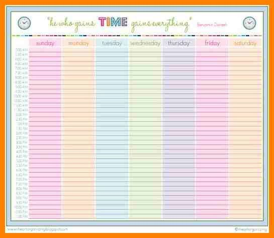 4+ weekly planner with times | grocery-clerk