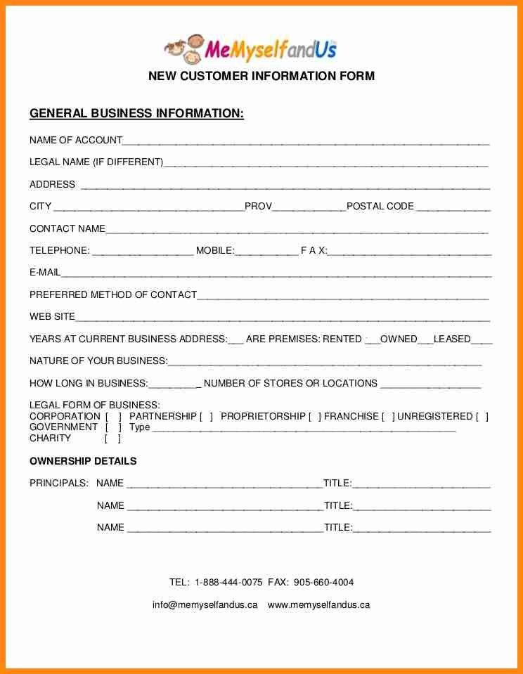 5+ customer information forms | model resumed