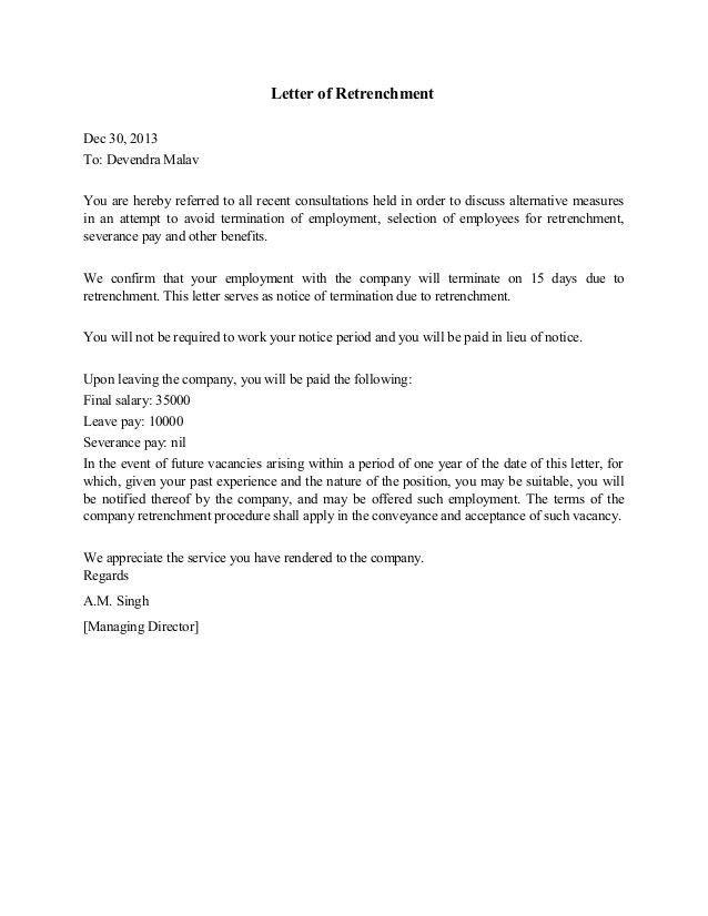 Sample Resignation Letter Short Notice Payment Lieu ...