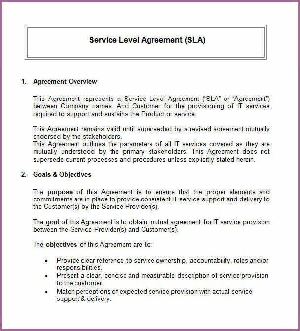 SERVICE AGREEMENT TEMPLATE | designproposalexample.com